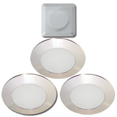 00 4295 - ELEKTRA LED LD8001 AL-S78 set 5 x 4,2 Watt