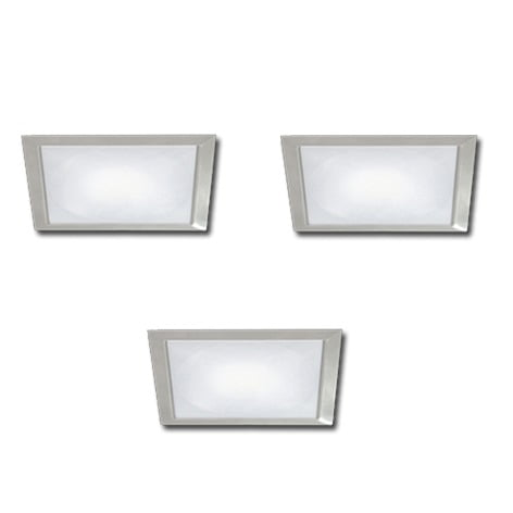 00 5183 - FORMA Sun Quadro led set inbouw 3 x 3,5 Watt
