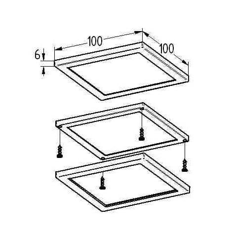 Losse P-LED-15 Panel armatuur