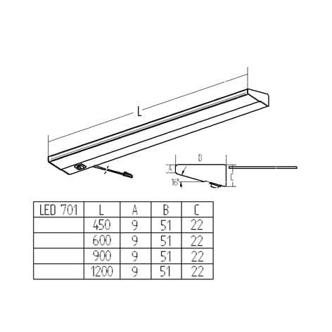LED armatuur LED 701