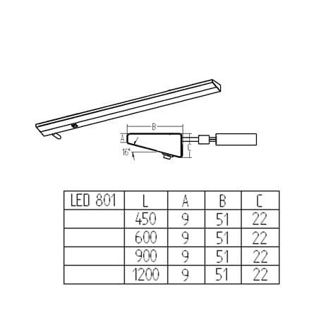 LED armatuur LED 801