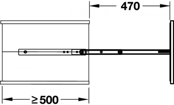 00835130 0 600x364 - KESSEBOHMER DISPENSA APOTHEKERSKASTEN SYSTEEM tbv kast 300mm. Kleur WIT. Inbouwhoogte 1900 - 2300mm