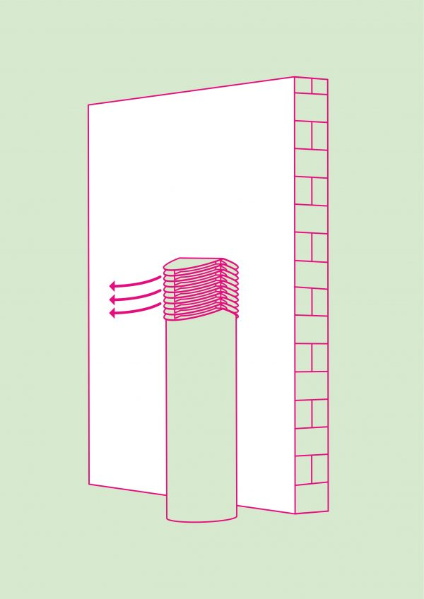 Compair tower luchtafvoer