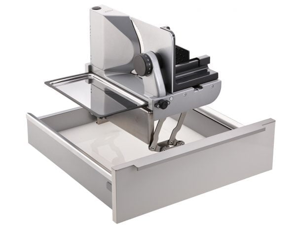 ritter universele snijmachine AES 72 SR-H, Universele snijmachines, zilvermetallic, snijproduct rechts begeleid