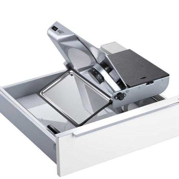 ritter universele snijmachine Type AES 62, Universele snijmachines, zilvermetallic, snijproduct links begeleid