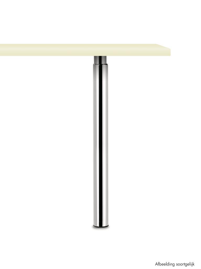 Trampolo 50 rond, Steunvoet., roestvrij staalkleurig, H 880 - 1060 mm