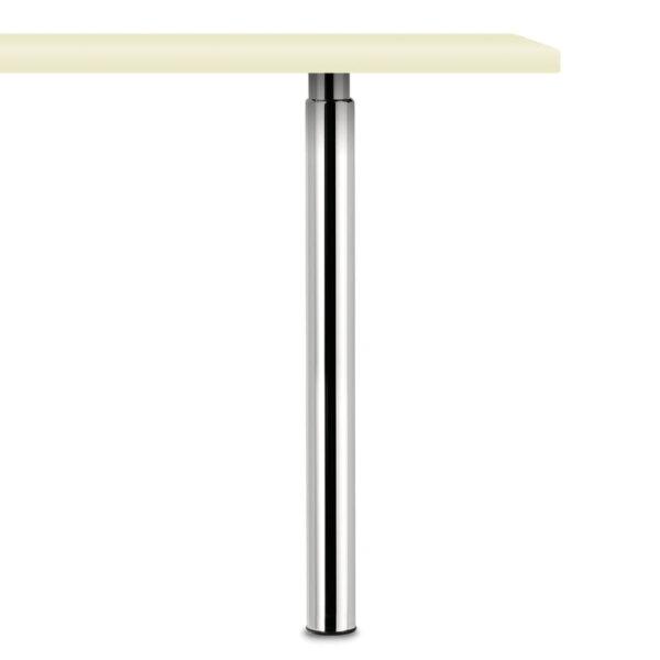 Trampolo 50 rond, Steunvoet., chroom gepolijst, H 705 - 885 mm