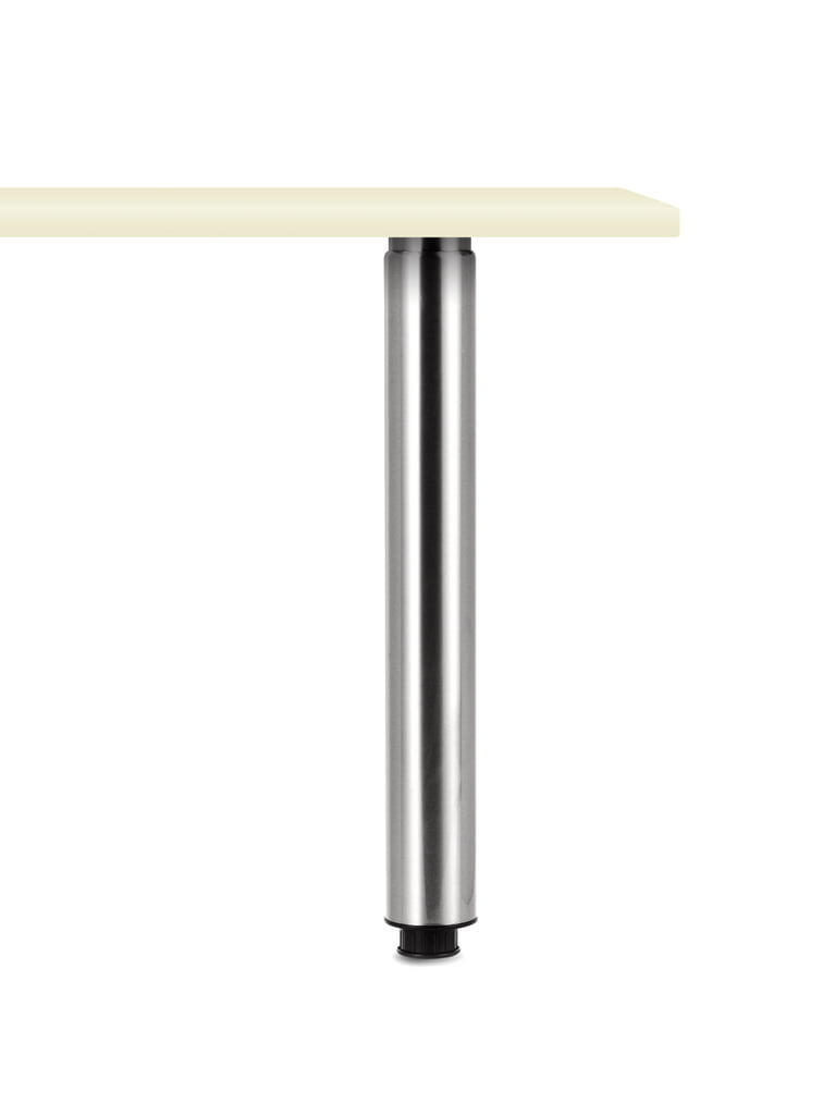 Trampolo 80 rond, Steunvoet., roestvrij staalkleurig, H 705 - 885 mm