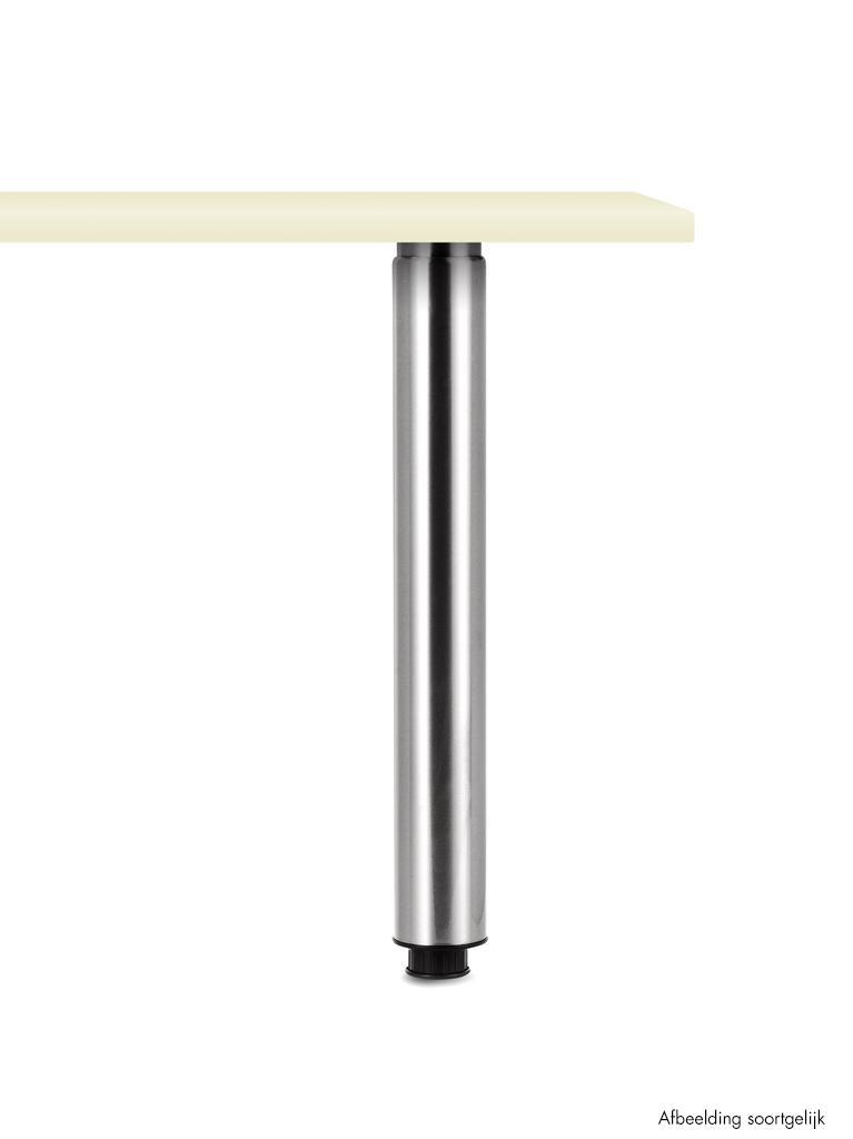 Trampolo 80 rond, Steunvoet., roestvrij staalkleurig, H 880 - 1060 mm