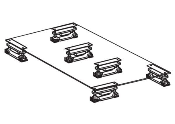 Baselift set 6 incl. DPH schakelaar, werkblad lift.