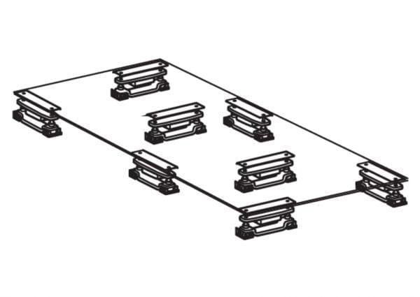 Baselift set 8 incl. DPH schakelaar, werkblad lift.
