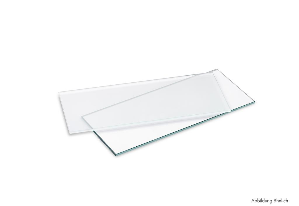 Glazen legborden, Legborddrager., glas gesatineerd, L 480 mm