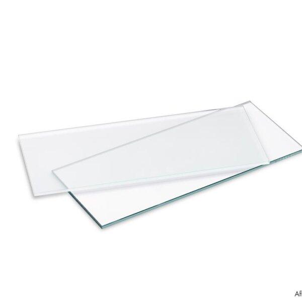 Glazen legborden, Legborddrager., glas gesatineerd, L 580 mm