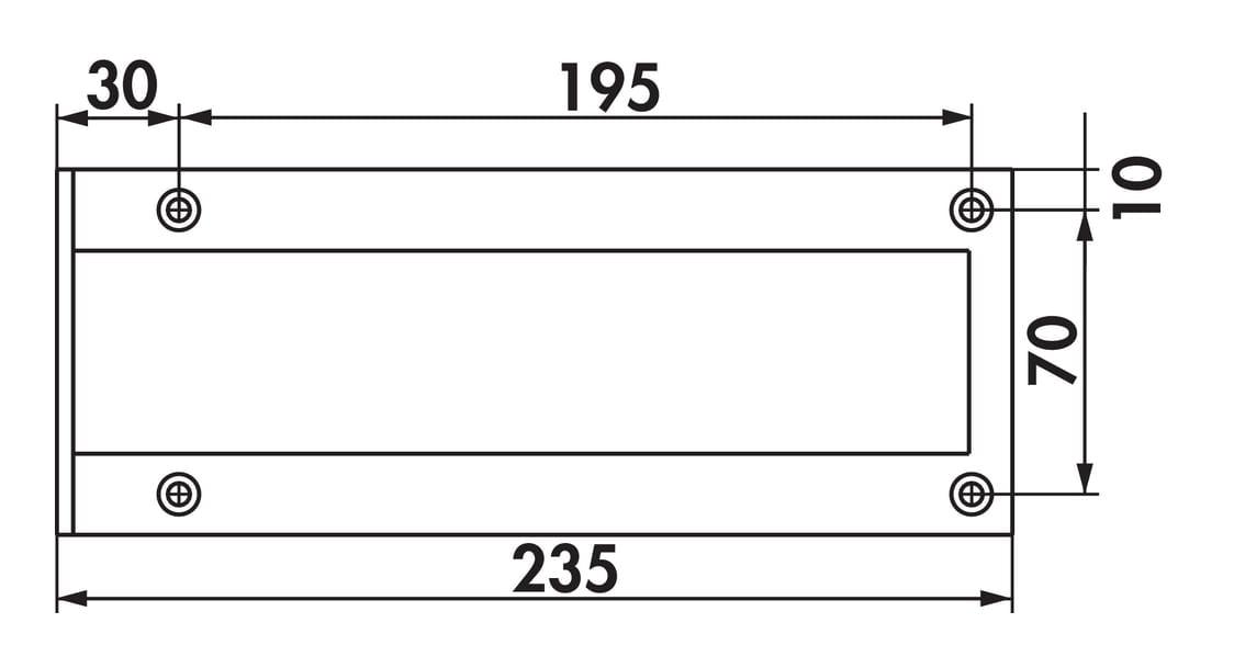 Kreta 3 schuin, Console., roestvrij staalkleurig, H 235 mm