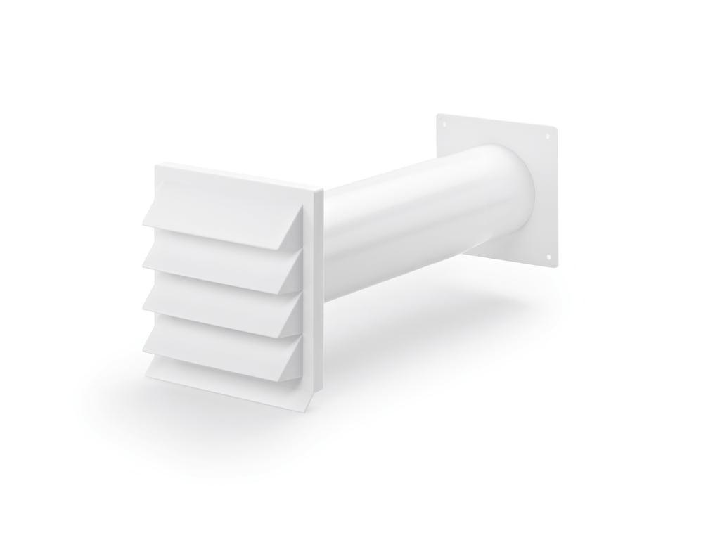 K-Klima-R 100/100 muurdoorvoerunit, Muurdoorvoerunit, wit