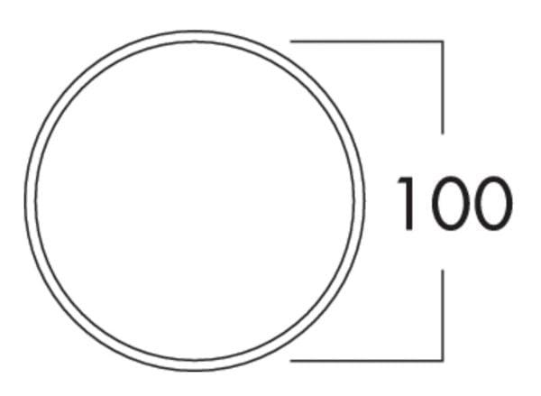 K-Klima-R 100/100 muurdoorvoerunit, Muurdoorvoerunit., baksteenrood