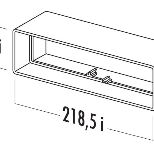 T-RVB 125 Brede buisverbinding, Verbindingselement., wit