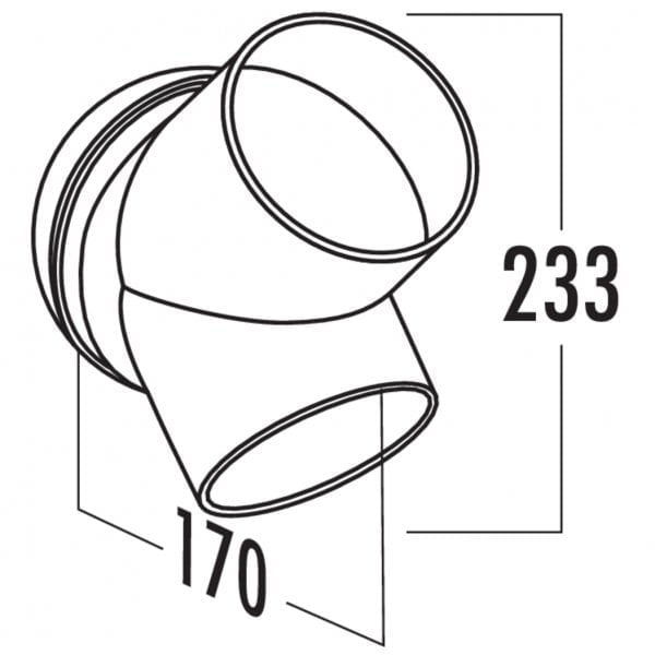 T-HS 125 broekstuk, Verbindingselement., wit