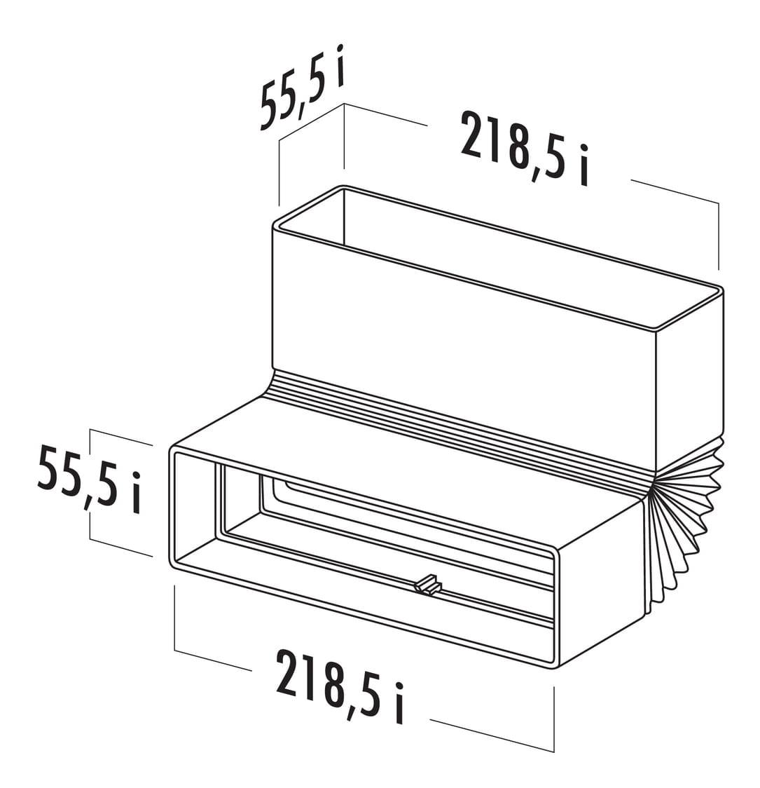 T-RBFLEX 125 Brede buisbocht, Verbindingselement., wit