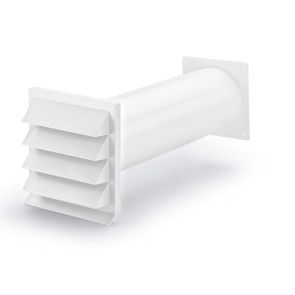 K-Klima-R 125 buitenrooster, wit, COMPAIR® Flow 125