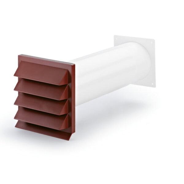 K-Klima-R 125/125 gevelrooster baksteenrood, COMPAIR® Flow 125