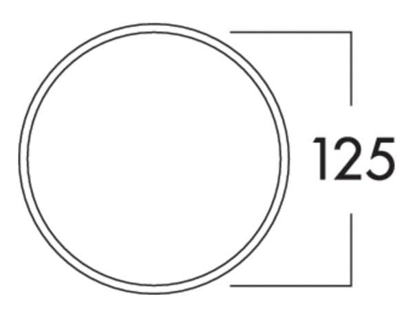 K-Klima-R 125/125 muurdoorvoerunit, Muurdoorvoerunit., baksteenrood
