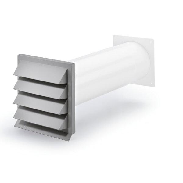 K-Klima-R 125 gevelrooster lichtgrijs, COMPAIR® Flow 125