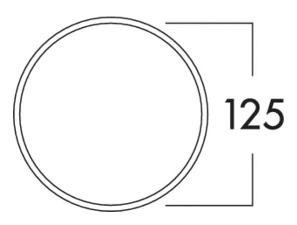 K-Klima-R 125/125 muurdoorvoerunit, Muurdoorvoerunit., antraciet