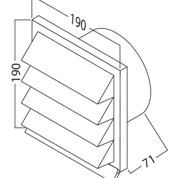 K-Jal 125 Buitenrooster lichtgrijs, COMPAIR® Flow 125