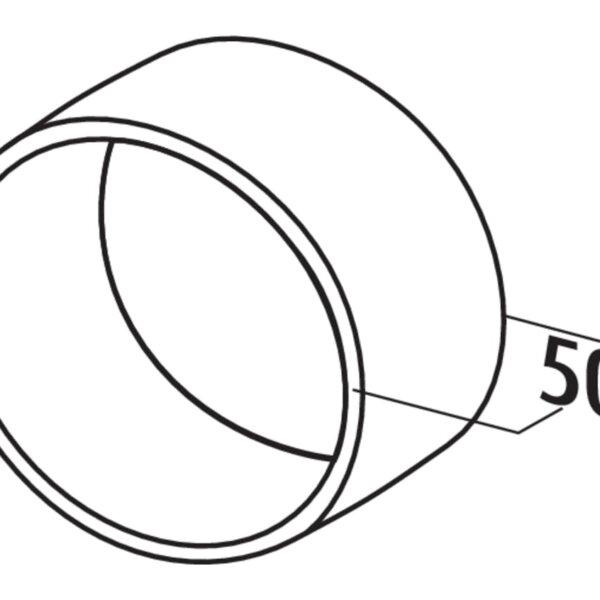 T-VBS 125 Buisverbinding rond , Verbindingselement., wit