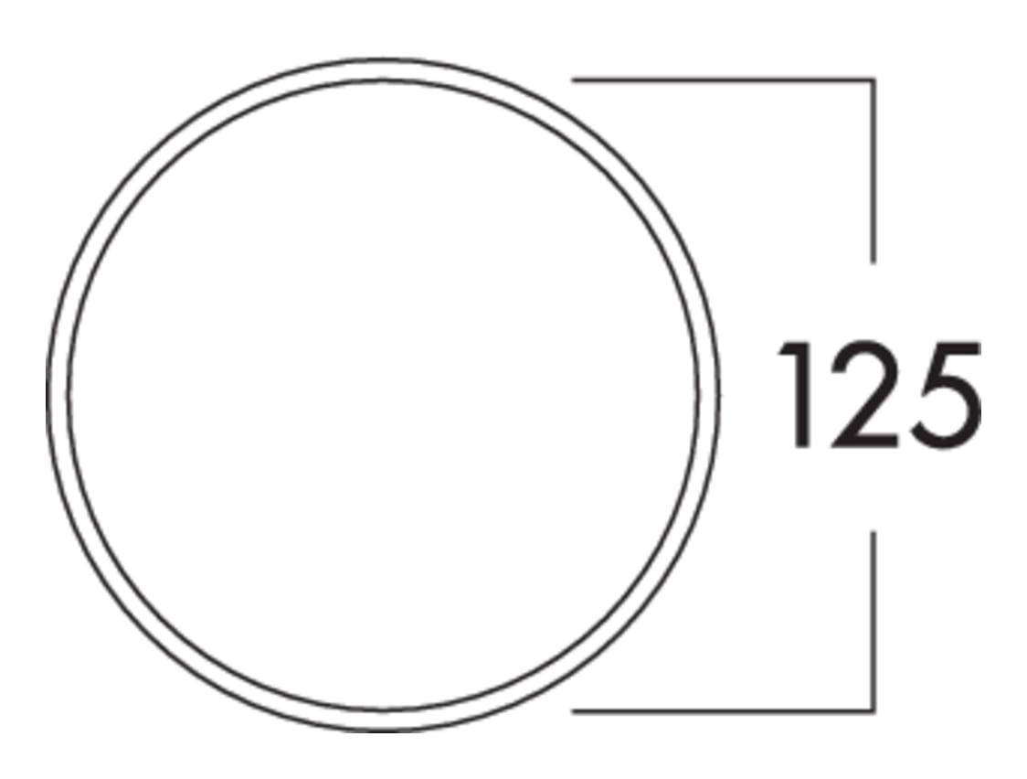 Klima-E 125 muurdoorvoerunit, Muurdoorvoerunit., wit/roestvrij staal