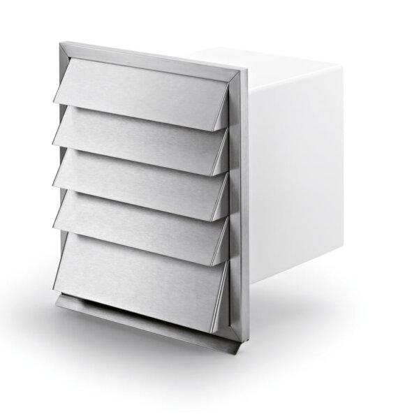 V-Klima A/Z 125 luchttoevoer en -afvoer muurdoorvoerunit 1, Muurdoorvoerunit, wit/roestvrij staal