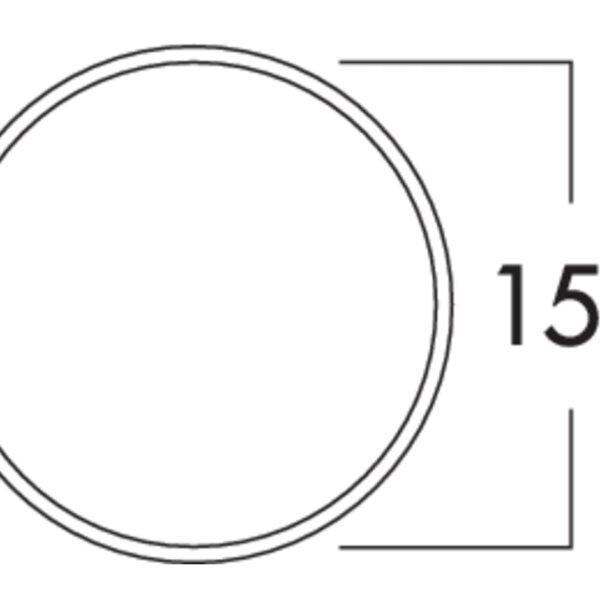 Klima-E 150 muurdoorvoerunit, Muurdoorvoerunit., wit/roestvrij staal