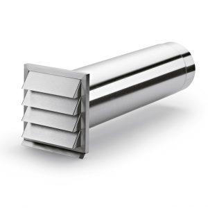 E-Klima-E 150 muurdoorvoerunit, roestvrij staal, COMPAIR® Flow 150
