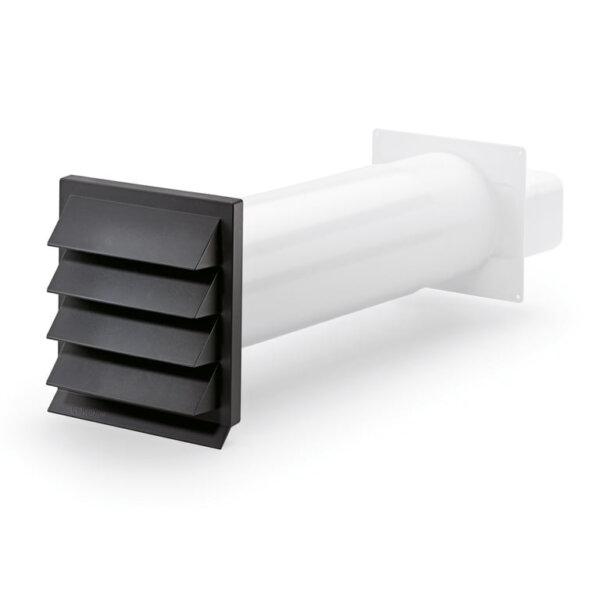 K-Klima-R flow 125 muurdoorvoer Antraciet, COMPAIR® Flow 125