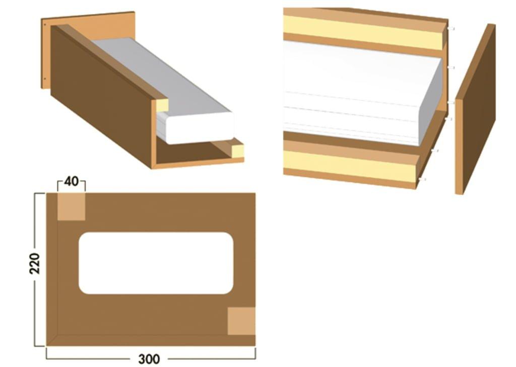 COMPAIRィ Luchtafvoerbekleding wandoplossing, Luchtafvoertoebehoren., L-vorm