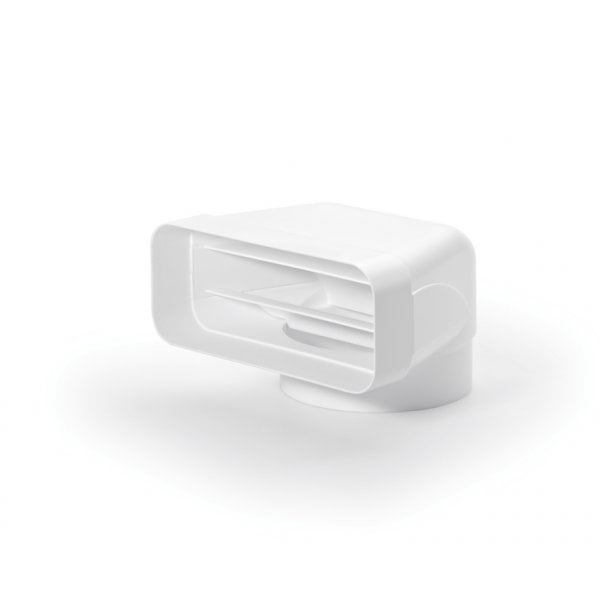 F-UR 150 Verloopstuk 90°, wit, COMPAIR® Flow 150