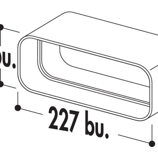 COMPAIR FLOW 150 F-RVB 150 Buisverbinding, wit