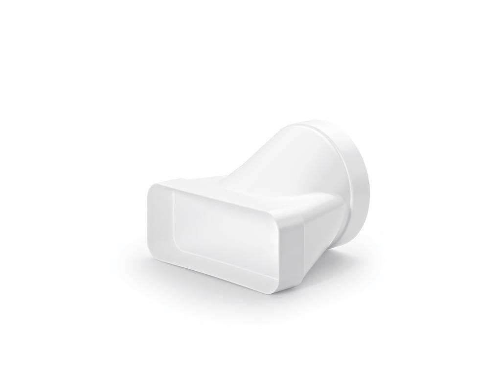 F-EST Eindstuk, Verloop rond recht, wit, COMPAIR® Flow 150