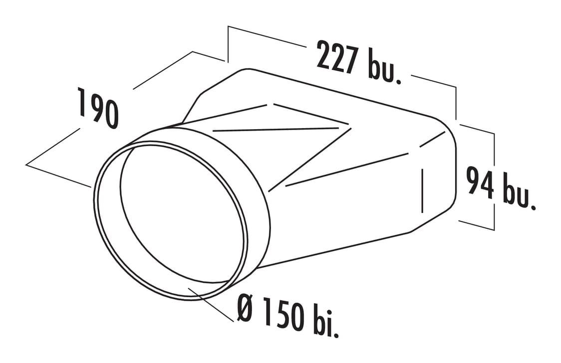F-EST 150 Eindstuk, Verbindingselement., wit