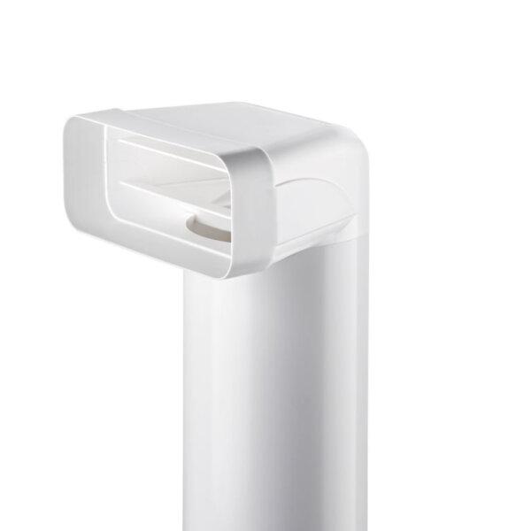 F-UR 150 verloopstuk 90°met ronde buis L 500 mm, COMPAIR® Flow 150