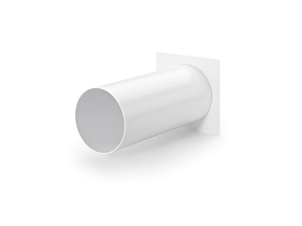 Muuraansluiting 1, wit, COMPAIR® Flow 150