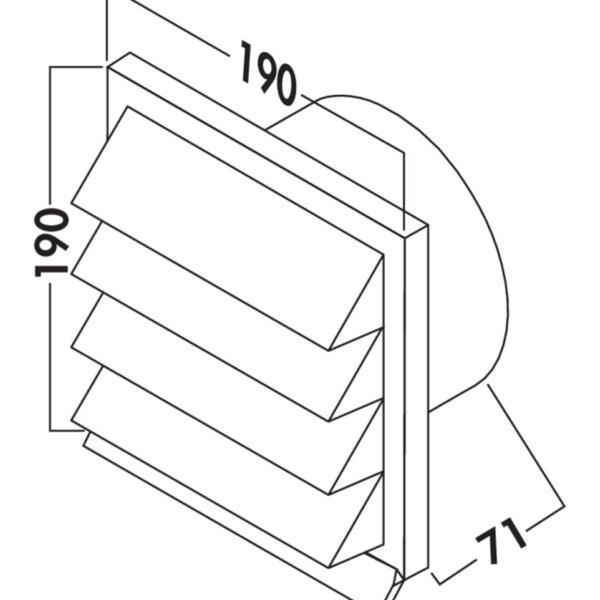 K-Jal 150 Buitenrooster baksteenrood, COMPAIR® Flow 150