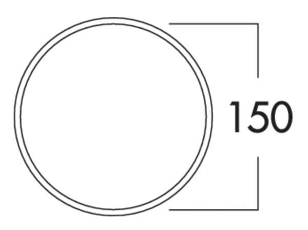 K-Klima-R 150/150 muurdoorvoerunit, Muurdoorvoerunit., wit