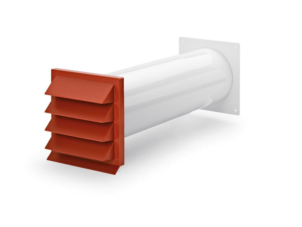 K-Klima-R 150/150 muurdoorvoer baksteenrood, COMPAIR® Flow 150