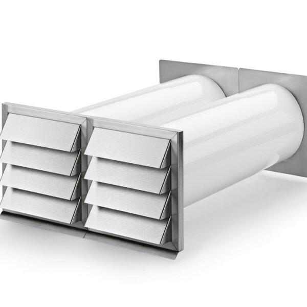E-Klima A/Z 150 luchtafvoer en -toevoer muurdoorvoerunit, Muurdoorvoerunit, Muurdoorvoerunit luchtafvoer en -toevoer