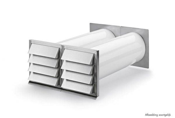 E-Klima A/Z 150 luchtafvoer en -toevoer muurdoorvoerunit, Muurdoorvoerunit., Luchtafvoerelement