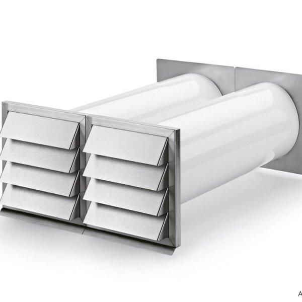 E-Klima A/Z 150 luchtafvoer en -toevoer muurdoorvoerunit, Muurdoorvoerunit, Luchtafvoerelement