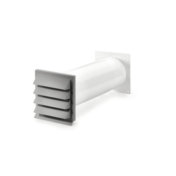 K-Klima-R 150/150 muurdoorvoerunit, buitenrooster, lichtgrijs, COMPAIR® Flow 150