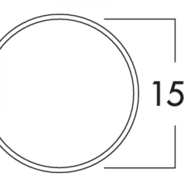 K-Klima-R 150/150 muurdoorvoerunit, Muurdoorvoerunit., lichtgrijs